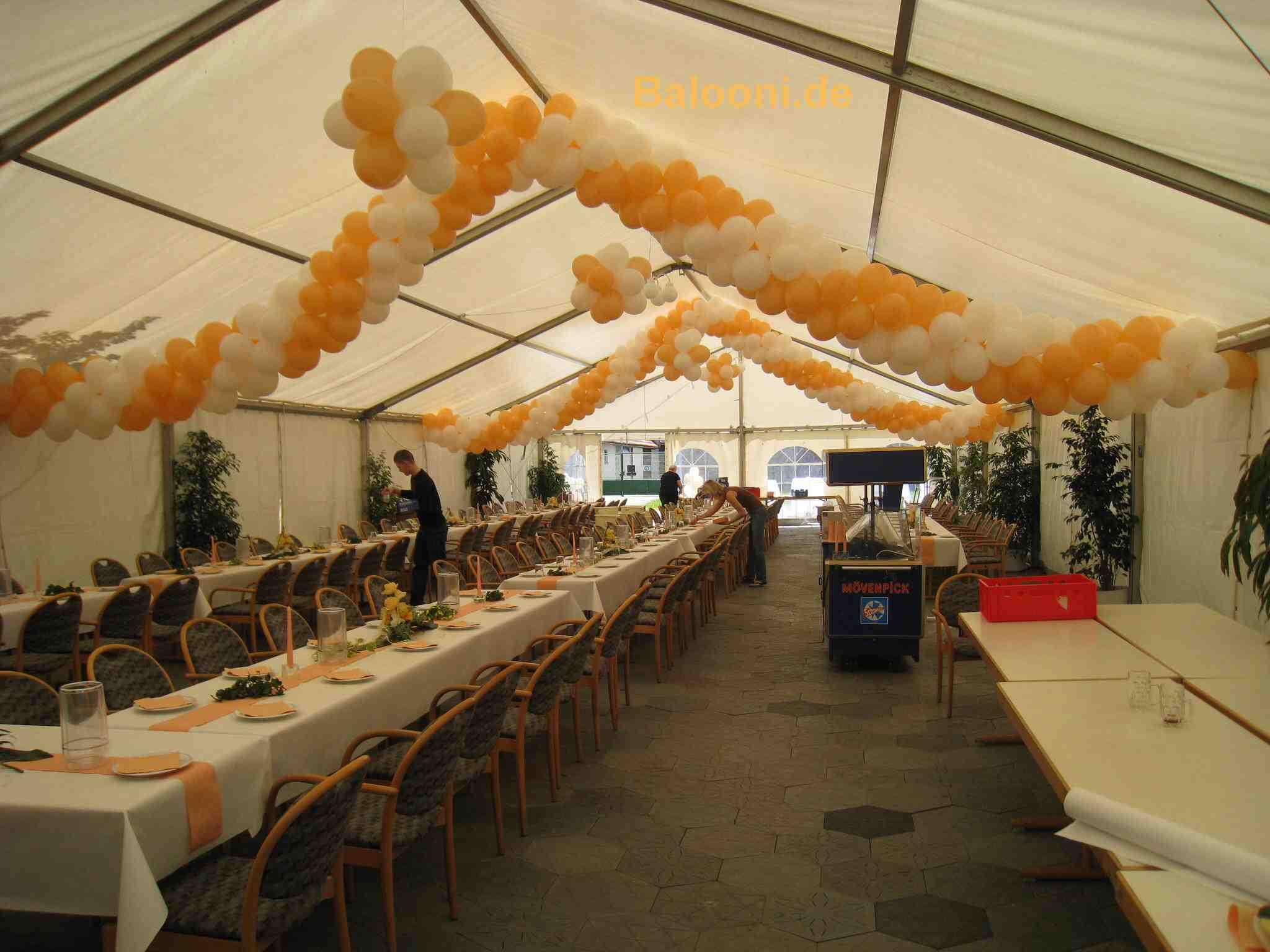Balooni luftballons dekoration for Festzelt dekoration